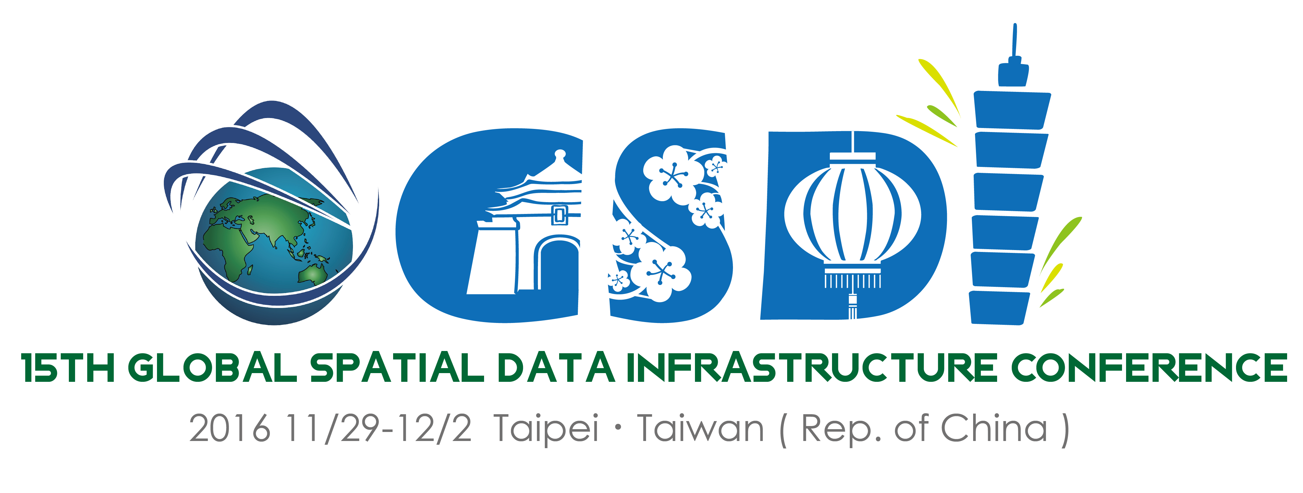 GSDI 15 logo with updated dates