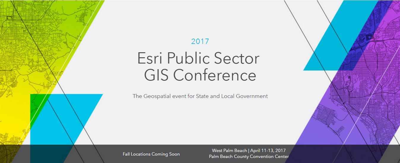 EsriPublicSectorGISConference2017 WestPalmBeach