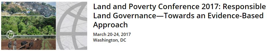 WB land poverty conference2017